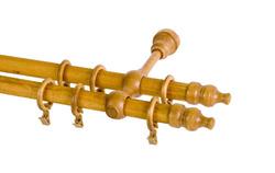Karnisz drewniany podwójny kompletny